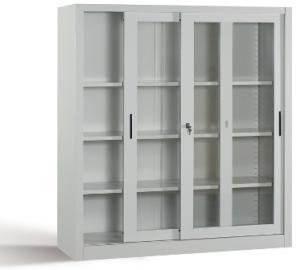 eth betriebseinrichtungen og office metalline b roschrank glas schiebet ren om mv120. Black Bedroom Furniture Sets. Home Design Ideas