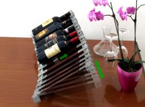 Inox-Weinpräsenter